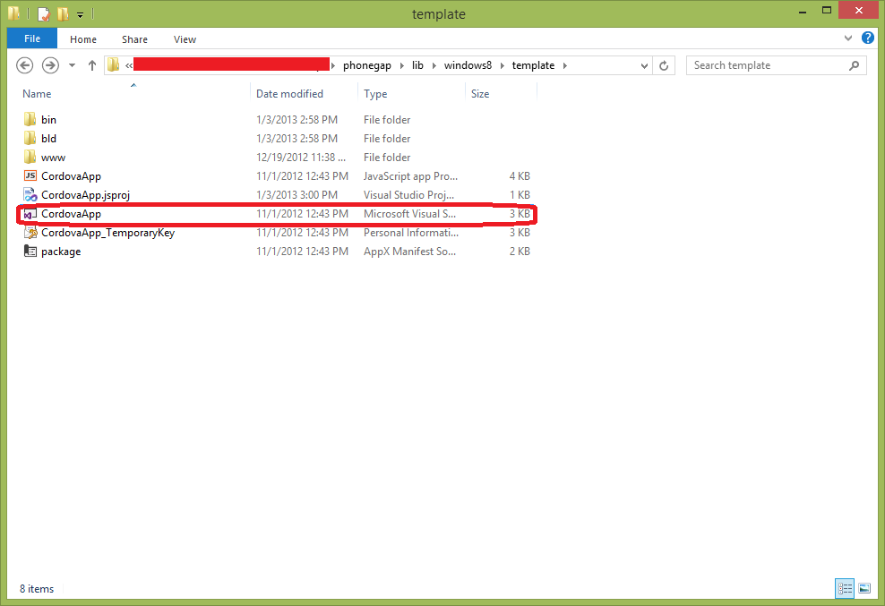 phonegap project template - using phonegap in windows 8 store applications mihail 39 s
