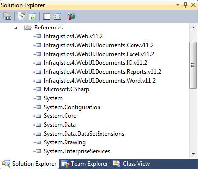 Infragistics DLL Web ASP Document