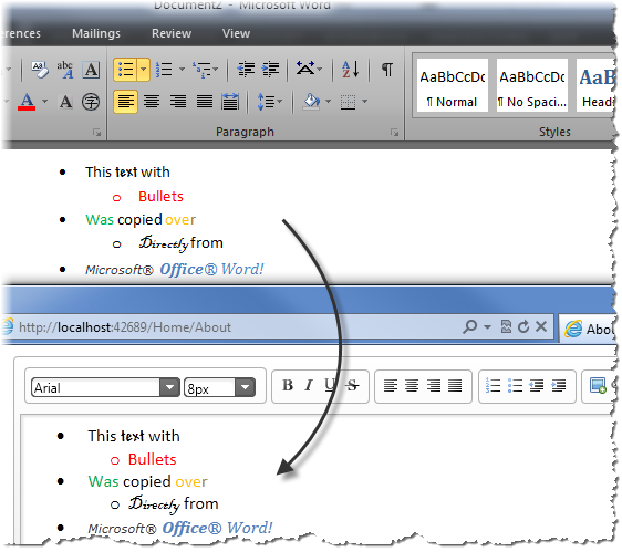 jQuery Html Editor's Clipboard support