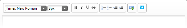 A custom toolbar with a button added to the jQuery Html Editor.