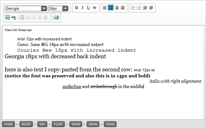 Rich Text Editing with Infragistics HTML Editor in both