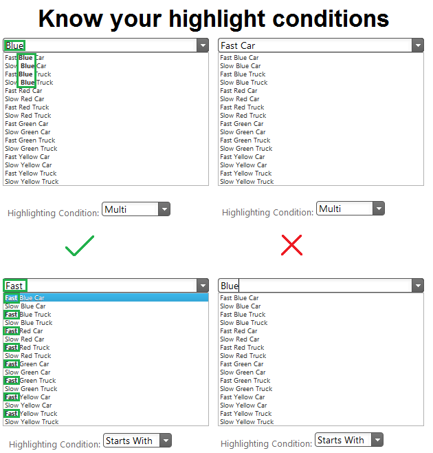 Using auto-complete, match highlighting and filtering in the jQuery