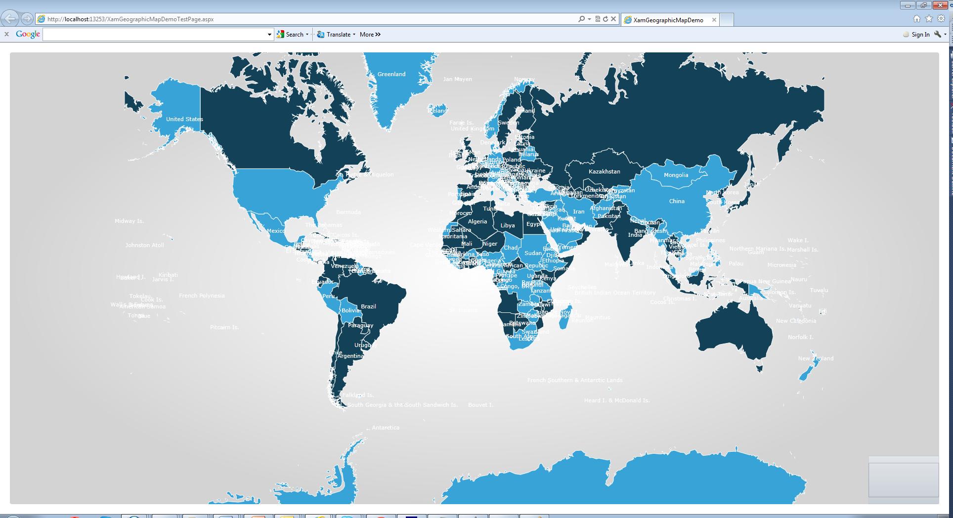 Introduction to Infragistics Geographic Map - Evangelism ...