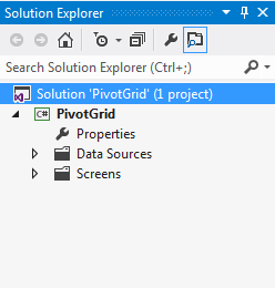 Infragistics LightSwitch 2012 Pivot Grid