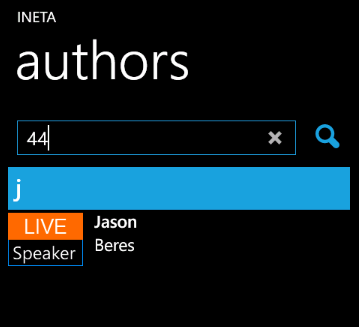 Infragistics Windows Phone List search without defined scope evaluates all item properties.