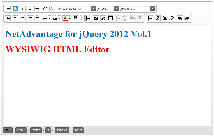 jQuery12.1HTML Editor Basic 
