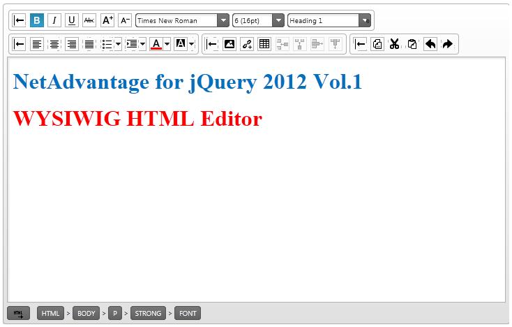 jQuery12.1HTML Editor Basic