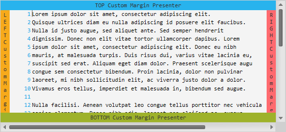 Custom Margins in the XAML Syntax Editor