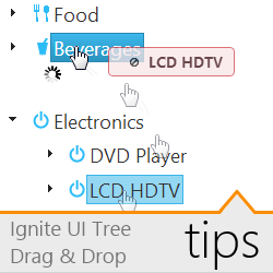 Tips on Drag & Drop with the Ignite UI Tree