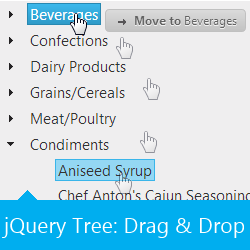 Ignite UI Tree control with Drag and Drop funtionality based on jQuery UI interactions