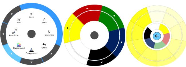 Ignite UI Radial Menu Color Items