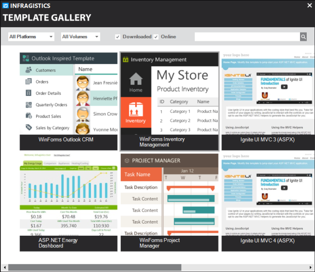 give your project a head start with the infragistics template, Powerpoint templates