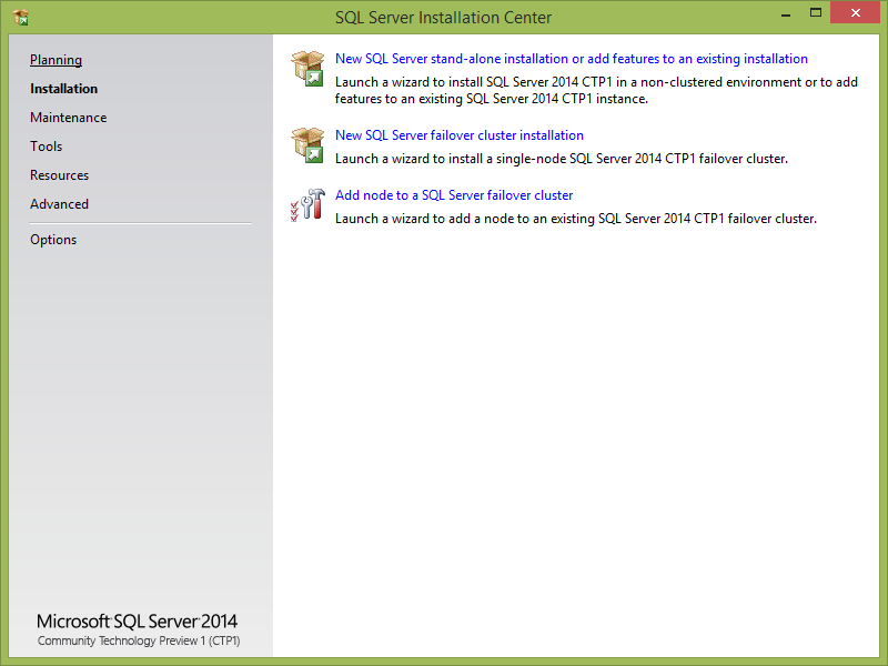 sql server for windows 8