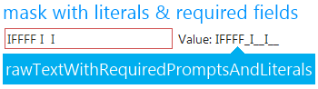 jquery mask editor value with literals prompts