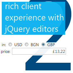 jQuery editors rich client experience