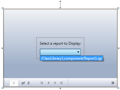 The XAML version of the easy-to-setup interaction when picking a report for the viewer.