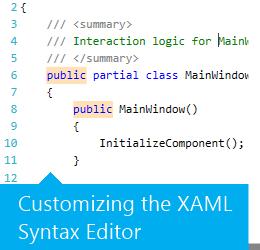 Customizing the XAML Syntax Editor.