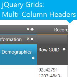jQuery Grids Multi-Column Headers
