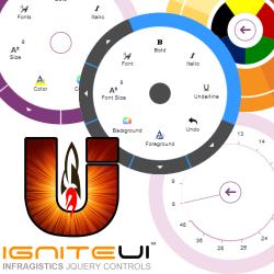 Ignite UI Radial Menu Header image