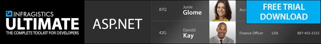 Infragistics for ASP.NET banner